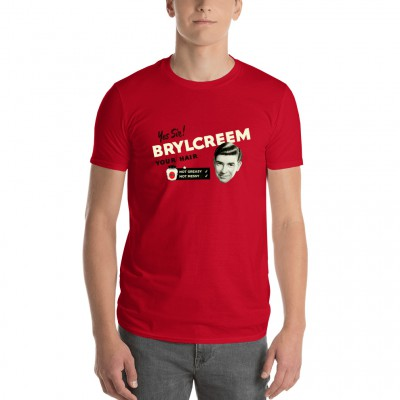 "Men's ""Yes Sir! Brylcreem Your Hair"" T-shirt Red"